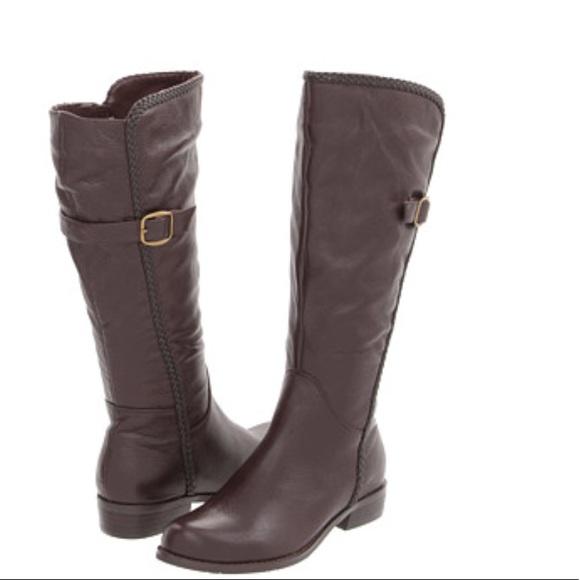 343f7ec86141 Gabriella Rocha Katy Wide Calf Boots NEW!